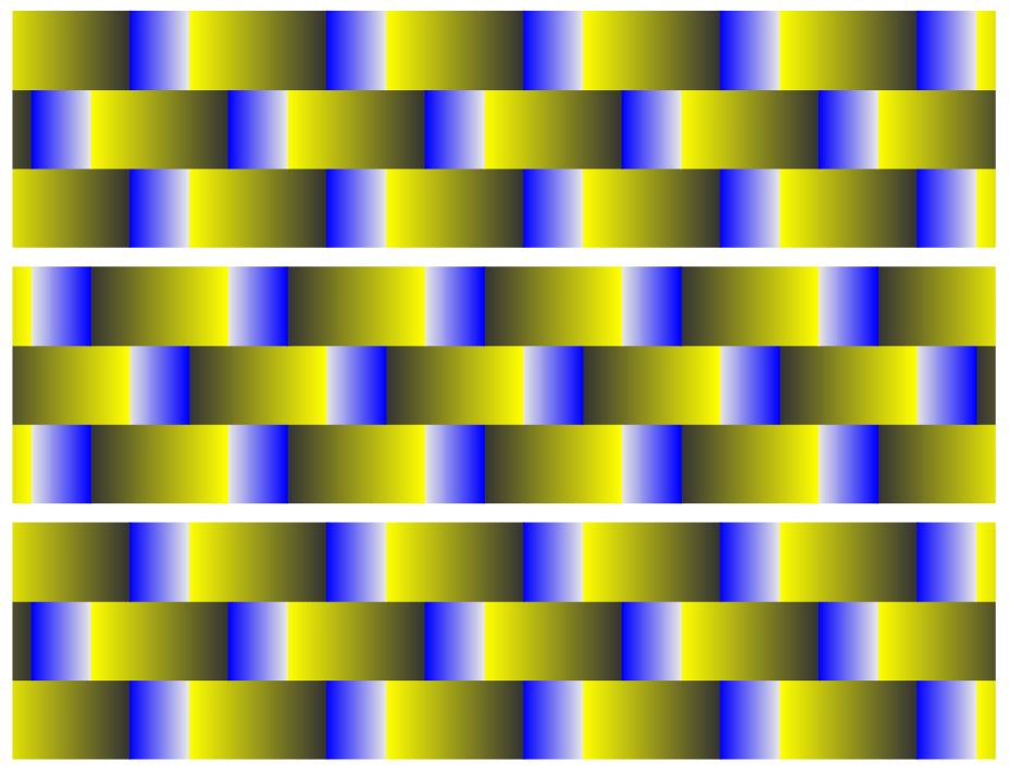 sehen. Bei originaller Bildgröße ist die Illusion besser zu sehen