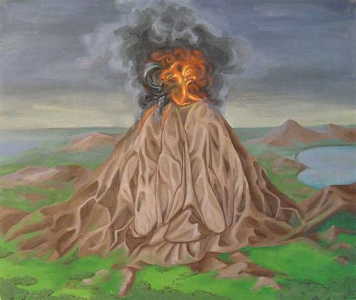 Aufwachsender Vulkan